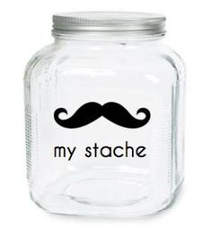 My Stache Jar The Gentleman Mustache Glass by olivetreemonograms- Baby Boy Baby Shower ideas