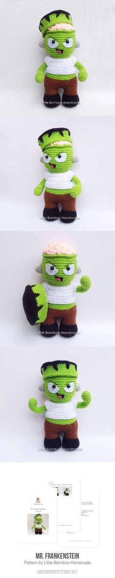 Mr. Frankenstein Amigurumi Pattern