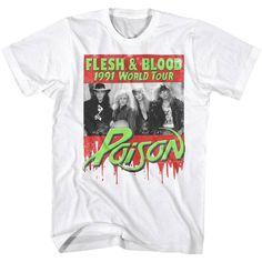Authentic Poison rock band Photo Talk Dirty to Me T-shirt S M L X 2X 3X 4X 5X