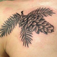 Tattoo pinecone nature ink #tattoo #pinecone #nature #ink