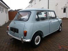 Mini Morris, Conditioner, The Incredibles, Retro, Vehicles, Classic, Car, Blue, Derby