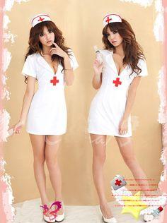 ナース服 コスプレ衣装 制服 バックレス セクシー 看護婦 白 職業 天使-Halloween-trw0725-0086…