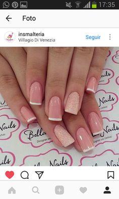 Fun Nails, Pretty Nails, Nails 2017, Bride Nails, Beautiful Nail Art, Stylish Nails, Nail Arts, Short Nails, Natural Nails