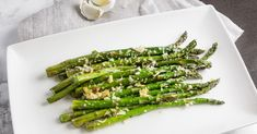 Easy Roasted Asparagus with Parmesan Recipe on Yummly Frozen Asparagus Recipe, Asparagus Recipes Oven, Asparagus Pasta, Parmesan Recipes, Garlic Parmesan, Gluten Free Recipes For Lunch, Easy Bread Recipes, Fish Recipes, Lunch Recipes