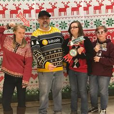 Ugly sweater face off with my kids. I win!