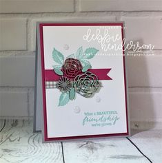 Debbie's Designs: My Paper Pumpkin Free Wooden Elements Card Feature. Paper Pumpkin March 2018 Kit. Debbie Henderson #paperpumpkin #debbiehenderson #debbiesdesigns #woodenelements #alternativeproject #stampinup