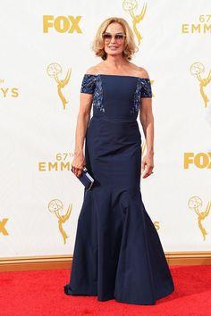 Red Carpet Fashion Emmys 2015: Jessica Lange in J. Mendel