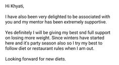 Each email here makes all of us at www.balancenutrition.in work day in and day out happily :)