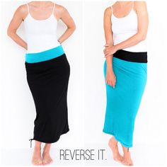 Maxi skirt that you can wear inside out.