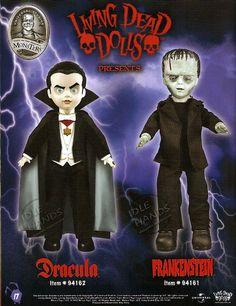 Dracula and Frankenstein Living Dead Dolls