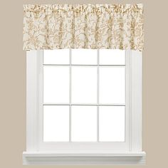 58 x 13 $20   Melissa Window Curtain Valance in Tan - www.BedBathandBeyond.com