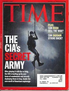 TIME MAGAZINE FEBRUARY 3 2003 2/3/03 THE CIA'S SECRET ARMY Tony Blair UNFAIR TAX