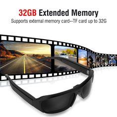 1080P HD Mini Night Vision Eyewear DVR Video Recorder Sunglasses Camera Glasses   Wish Wifi Spy Camera, Hidden Spy Camera, Security Camera, Camcorder, Spy Camera Glasses, Hd Sunglasses, Mac Os 10, Mini Gps Tracker, Blacked Videos