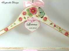 Wedding hangers Spring wedding hangers by InspirellaDesign on Etsy