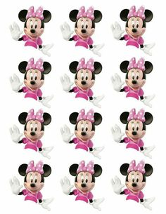 Minnie Mouse Cupcake Toppers, Minnie Mouse Birthday Decorations, Minnie Mouse Baby Shower, Minnie Mouse Pink, Mickey Mouse Birthday, Mickey Minnie Mouse, Mickey Mouse Images, Mickey Party, Mouse Parties