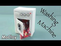 DIY Dollhouse - How to make a miniature washing machine - YouTube
