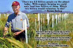 Norman Borlag on organic farming