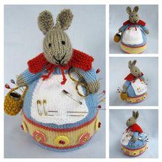 Rowena Králík pincushion hračka zajíček pletení vzor Pdf