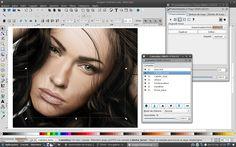 """""""A szabadság jobbá formálja a világot.""""  Mi is ezt valljuk az életünk minden területén. Épp ezért dolgozunk szabad és nyílt programokkal. Egyik kedvenc eszközünk az Inkscape, amivel professzionális szintű vektorgrafikus képeket lehet készíteni.  Ez a női portré - bár távolról úgy tűnik - nem egy fénykép, hanem Inkscappel megrajzolt grafika.  (képforrás: public domain)"""