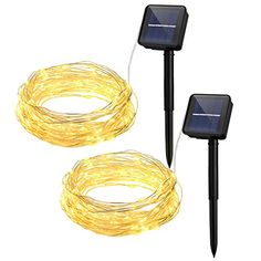 Cymas Outdoor String Lights 100 LED Solar Christmas Fairy lighting Decorative Light 33ft  2 Packs * You can get more details by clicking on the image.