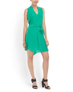 Aryn K.  Silk Tank Button Belted Dress--Seafoam. I like this color, but wish it was a little longer