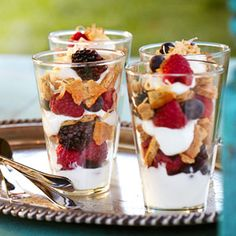 Patio Party: 10 Summer Dinner Recipes  Summer Berry and Yogurt Parfaits with Toasted Coconut