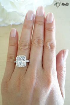 Size 4-9: 4 Carat Emerald Shape Radiant Cut by TigerGemstones