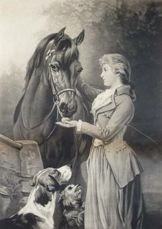 A girl and her horse by Heywood Hardy.Williamson homestead had this on the walls & Betty Meyers now has it Seven Horses Painting, Horse Oil Painting, Watercolor Horse, Abstract Watercolor, Painted Horses, Drawing Artist, Painting & Drawing, Horse Drawings, Pencil Drawings