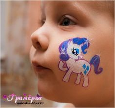 Аквагрим, грим, единорог, пони face painting, make-up, unicorn, pony