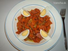 Mrkvový perkelt Ratatouille, Bruschetta, Healthy Recipes, Healthy Food, Salsa, Ethnic Recipes, Fitness, Diet, Cilantro