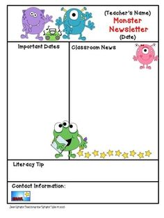 Classroom Rules Monster Theme Positive Behavior  Monsters