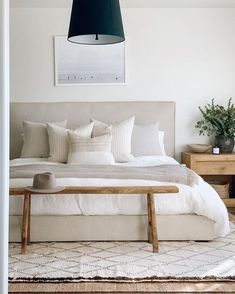 modern bedroom ideas. modern design. home design. industrial modern home. Cozy Bedroom, Bedroom Inspo, Dream Bedroom, Bedroom Decor, Apartment Master Bedroom, Bedroom Rugs, White Bedroom, Master Bedrooms, Bedroom Inspiration