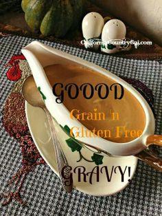 GRAIN & GLUTEN FREE GRAVY