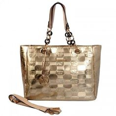 83bf134e4b0de7 Michael Kors Logo Embossed Leather Large Gold Totes, Michael Kors Handbags, Michael  Kors Outlet Wish You Can Find Your Favorite