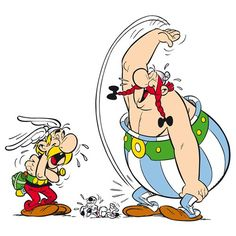 Mort De Rire by Uderzo Graphic Art on Canvas Atelier Contemporain Size: 80 cm H x 80 cm W x cm D Comic Kunst, Comic Art, Asterix E Obelix, Art Sur Toile, Elephant Wall Art, Van Gogh Paintings, Bd Comics, Happy Art, Art Graphique