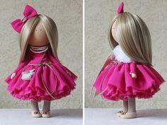 Amor muñeca muñeca hecha a mano colores por AnnKirillartPlace