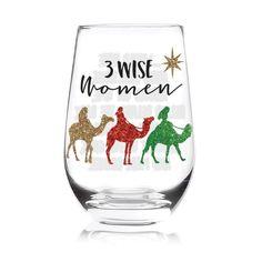 Three Wise Women Stemless Glass