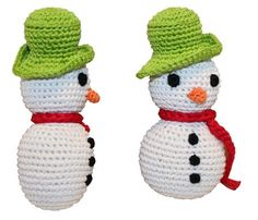 Knit Knacks - Holiday Frost The Snowman Organic Cotton Dog Toy