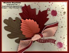 Handmade thank you card using Stampin' Up! Harvest of Thanks Set.