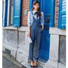 Salopette en jean Mademoiselle R | La Redoute