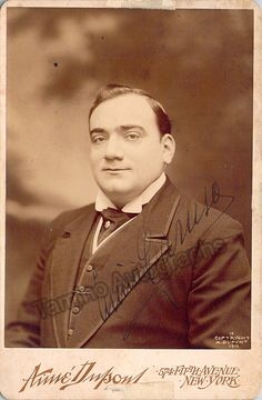 Caruso, Enrico - Signed Cabinet Photo - Tamino Autographs  - 1