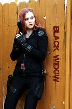 My homemade 'Black Widow' costume for The Avengers premier