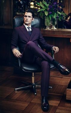 """traveledandtailored: """" kugati: """" A luxurious and elegant purple suit for the men folk. menswear, men's fashion and style"""