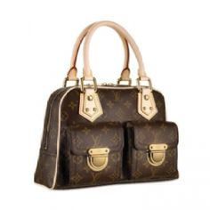 4d6a4f64106d Cheap And Fine Louis Vuitton Manhattan PM Brown Top Handles at Discount  Price!