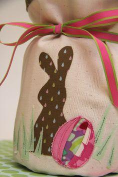 Easter bag/vase cover tutorial.
