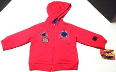 """$13.97/ Baby/Toddler boys hooded sweatshirt/hoodie features Spiderman """"Spidey""""Novelty Cartoon Character by Marvel Comics, size 12 Mo's. ~~see more youth, kids, children's clothing + over 20 categories of merchandise in my store. SHIPPING IS ALWAYS FREE in the USA; I do ship globally  www.shellyssweetfinds.com"""