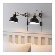 IKEA - RANARP, Wand-/klemspot, , De lamp heeft een dubbele functie - je kan hem gebruiken als klemspot of hem als wandlamp op de muur monteren.Door de verstelbare kop is het licht gemakkelijk te richten, bijvoorbeeld op je boek als je leest, op het plafond voor algemene verlichting of op een bepaald gebied in de kamer.De lamp weegt bijna niets en is eenvoudig te verplaatsen naar waar je hem nodig hebt. Bovendien kan hij gemakkelijk en stevig worden vastgeklemd.