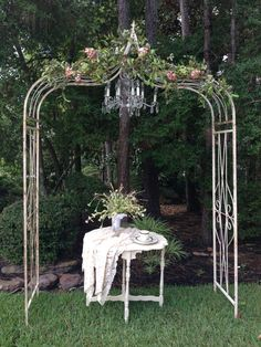 Rustic Black Metal Wedding Arch … | Pinteres…