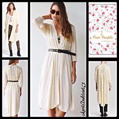 "Selling this ""Free People Lady Catherine Long Shirt Dress"" in my Poshmark closet! My username is: aprils2ndcloset. #shopmycloset #poshmark #fashion #shopping #style #forsale #Free People #Dresses & Skirts"
