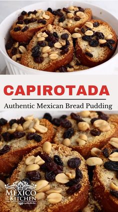 Easy Capirotada Recipe, Mexican Bread Pudding, Real Mexican Food, Mexican Dessert Recipes, Pie Dessert, Cooking Videos, Tray Bakes, Scones, The Help